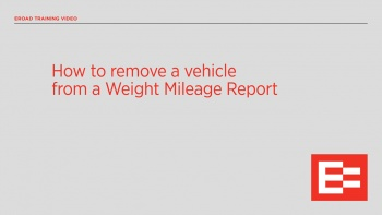 Removing a vehicle from a Weight Mileage Report