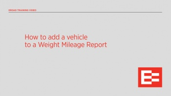 US How to add a vehicle to a Weight Mileage Report