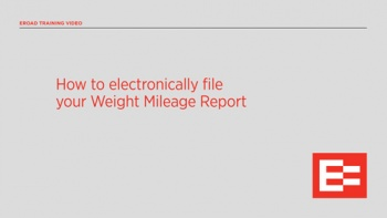 US How to electronically file your Weight Mileage Report