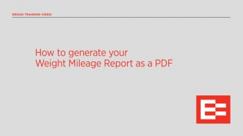 US How to generate your Weight Mileage Report as a PDF