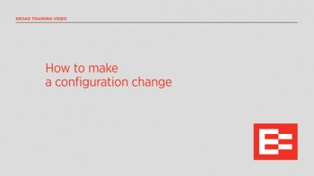 US How to make a configuration change