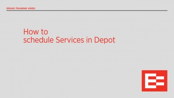 US37 R How to schedule services in Depot