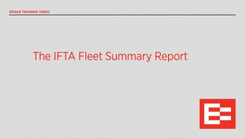 US40 R The IFTA fleet Summary report