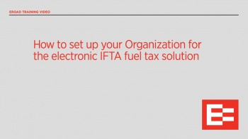 US42 R How to set up your Org for the electr IFTA fuel tax solution