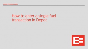 US43 R How to enter a single fuel transaction in Depot
