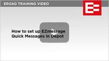010 How to set up EZmessageQuick Messages in Depot thumb