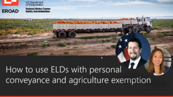 How to use ELDs with personal conveyance and agriculture exemption