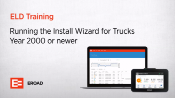 Running the Install Wizard for Trucks year 2000 or newer