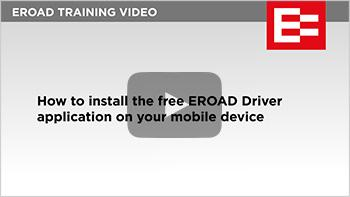 Video 09 How to install the EROAD Driver application tumb