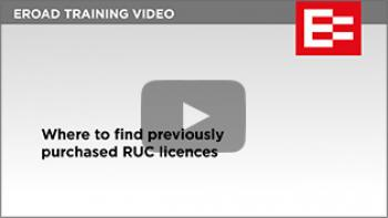 Video 20 Where to find previously purchased RUC licences thumb